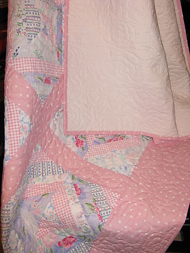 Memory Quilt draped over a rocker