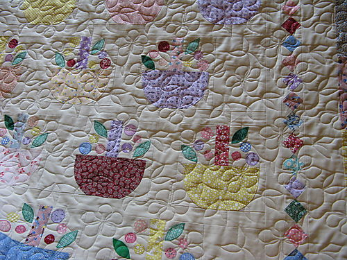 Closeup of the quilting Liz