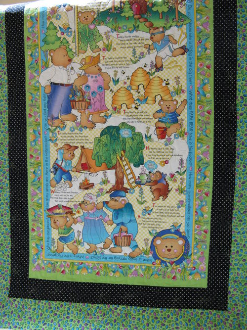 Sharon's Bear quilt