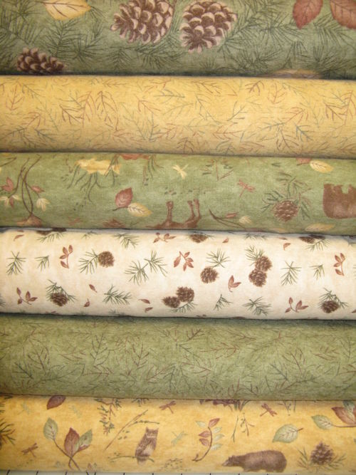 6 of the 12 Pine Creek Crossing fabrics