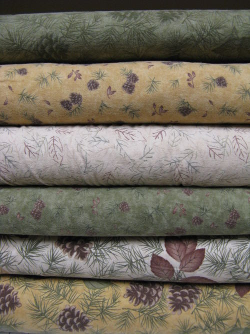 Second set of 6 fabrics from Pine Creek Crossing