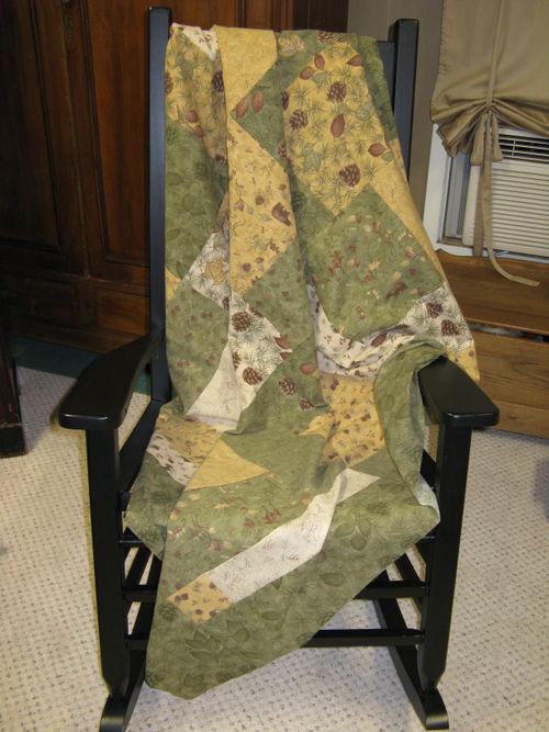 Pine Creek Crossing quilt in rocker ed