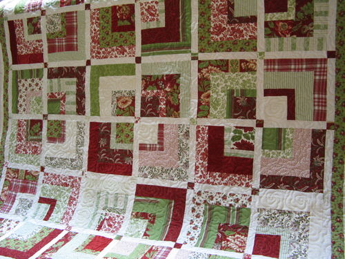Rebecca's floral quilt full view