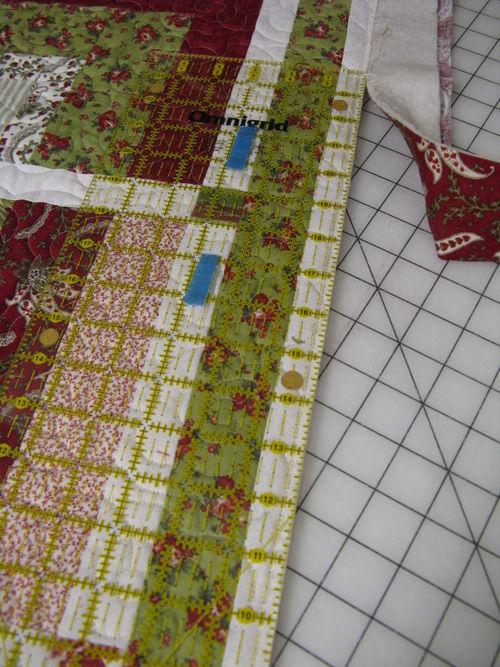 Trim the quilt