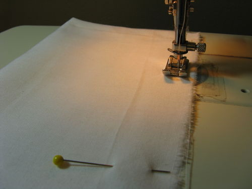Sew 12 inches from edge