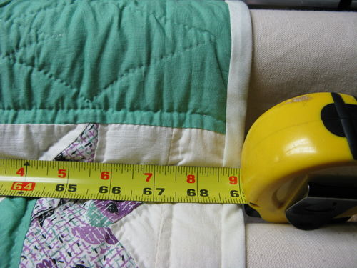 Measure the quilt width