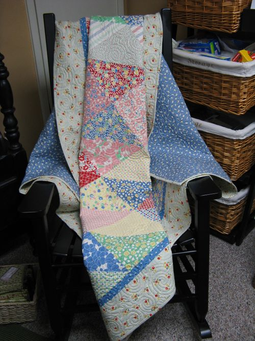 Hello Betty Quilt on Rocker