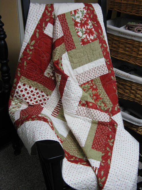 Christmas Quilt on Rocker