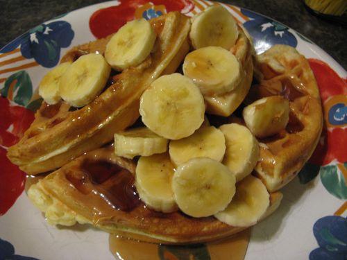 Waffles - Peanut Butter and Banana
